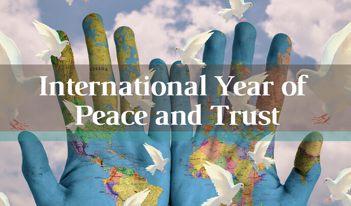 Year of peace and trust