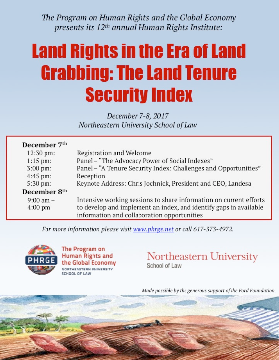 Securing Land Rights in the Era of Land Grabbing: event live-stream
